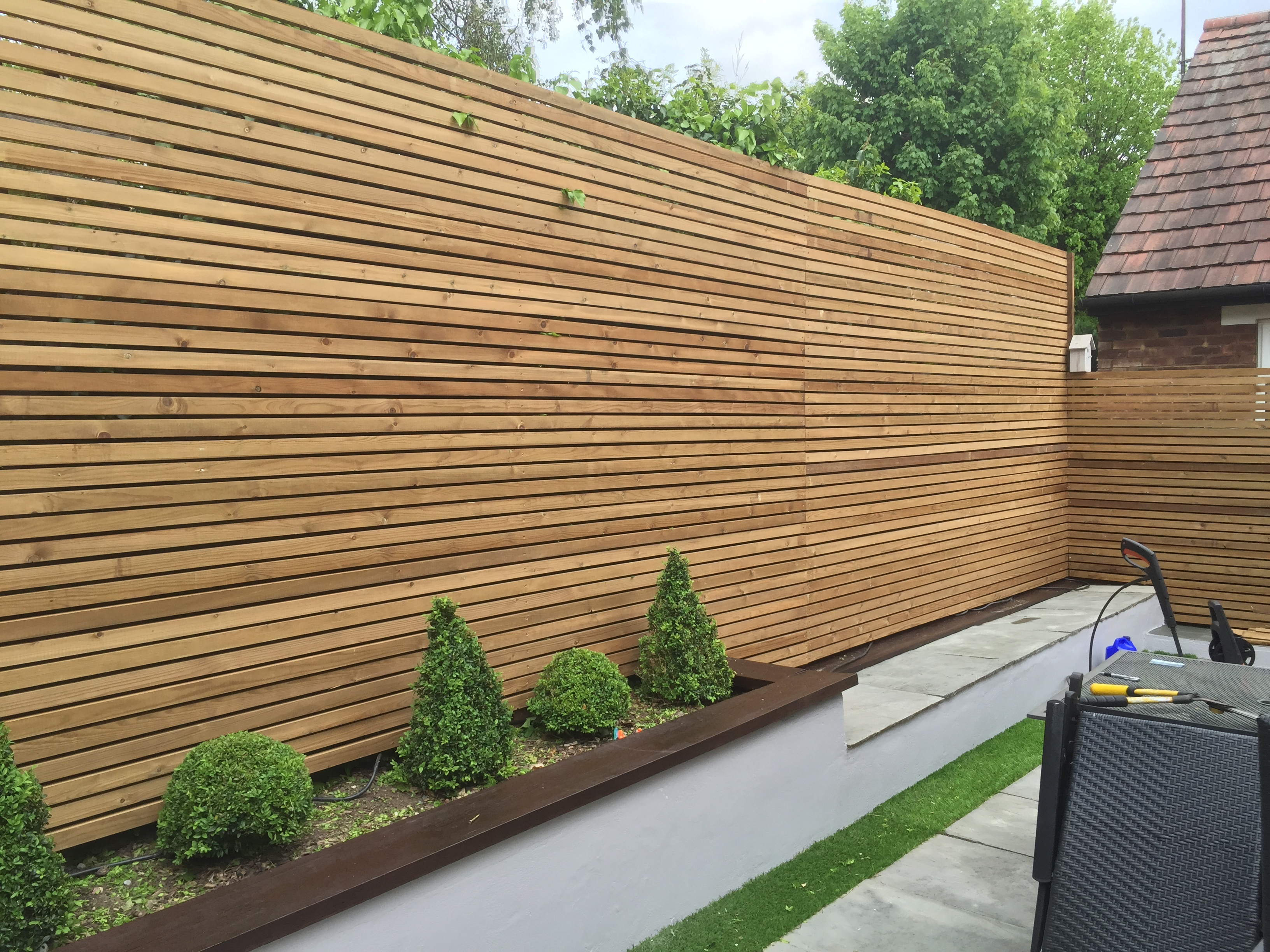 Slatted Contemporary Fencing