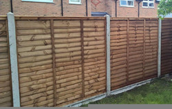 Overlap Panel Garden fences Cheshunt