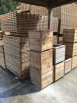 Garden planter boxes.