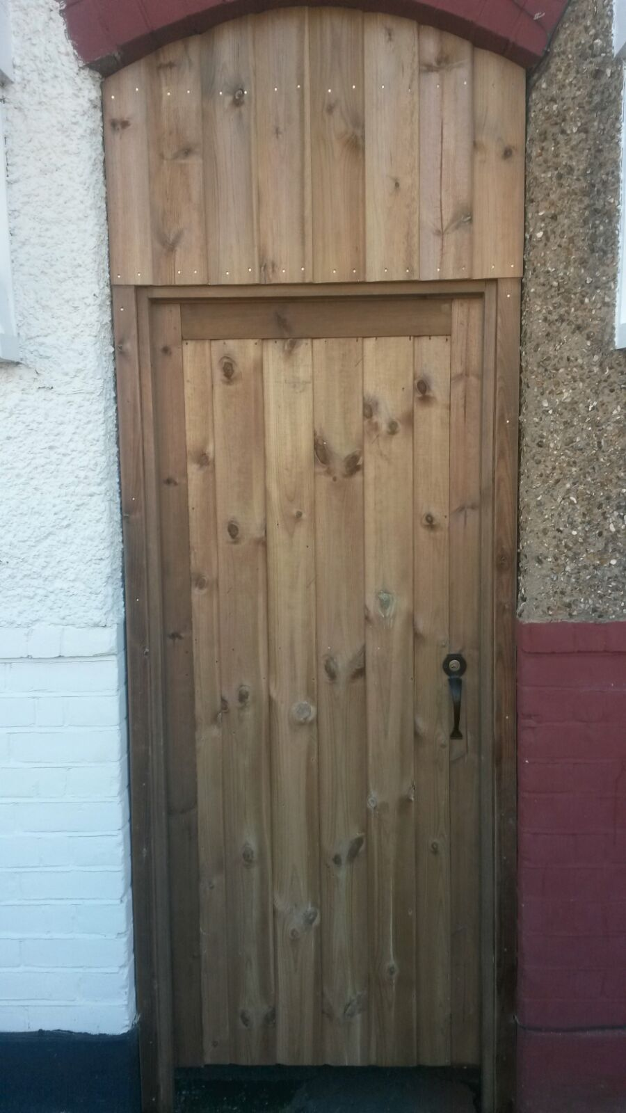 Morticed shiplap gate