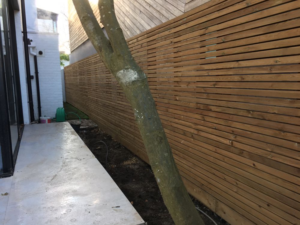 Western red cedar Fencing London