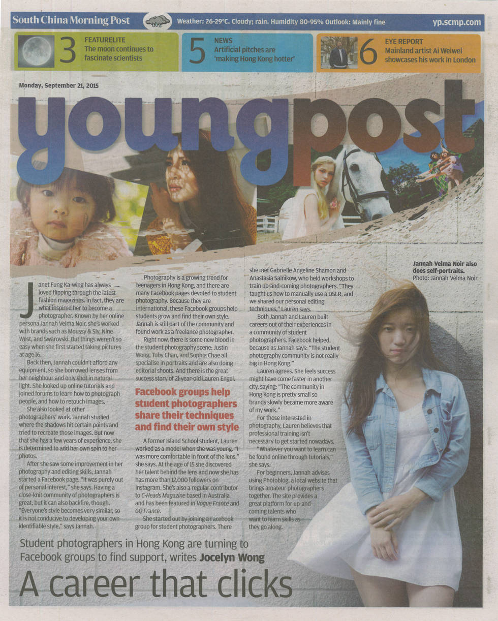 My Interview on Young Post (SCMP)