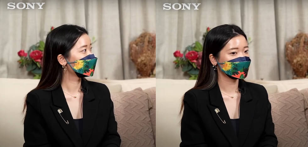 My tutorial & interview snapshot for Sony
