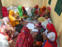 Women at Barwarw vill. to do SHG meeting self