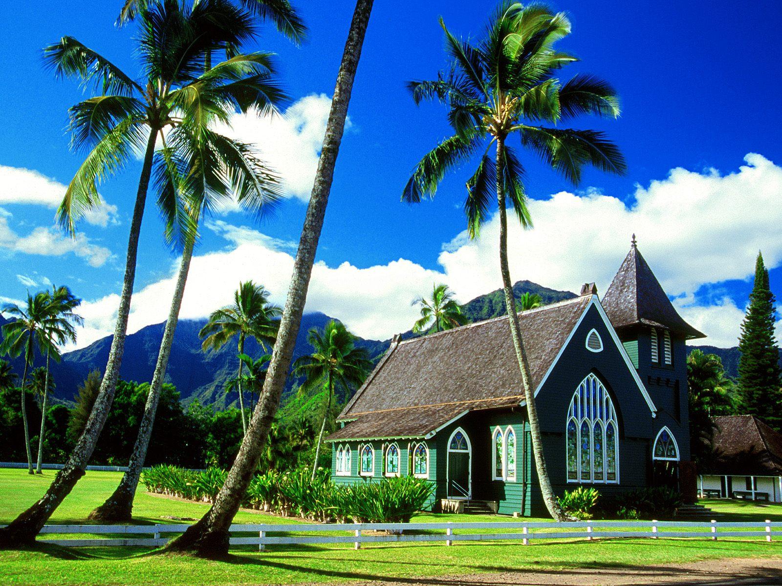 Waioli Huiia Church, Hanalei, Kauai, Hawaii