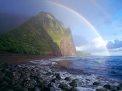 Misty Rainbow, Waialu Valley, Molokai, Hawaii