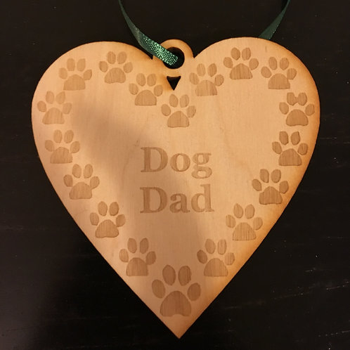 Heart with Paw Prints Dog Dad