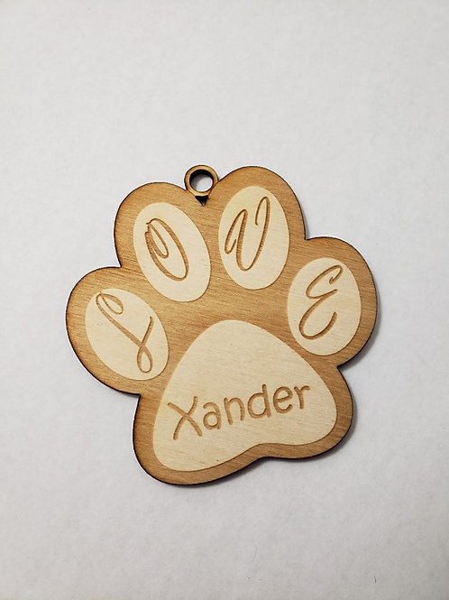 Personalized LOVE Paw Print