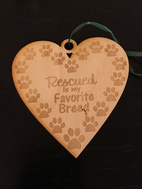 Heart with Paw Prints Rescued is my Favorite Breed