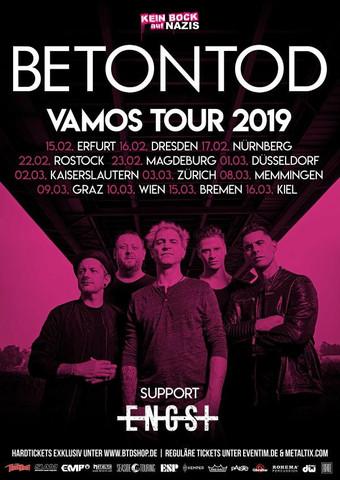 Gemeinsam auf Tour: BETONTOD und ENGST - Interviews/Gästeliste möglich