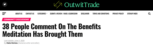 OutWitTrade Meditation Benefits Article.