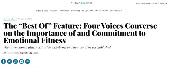 Thrive Global Emotional Fitness Article.