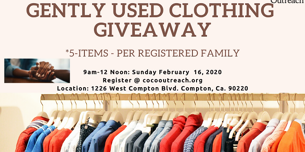 """Community 5-Item """"Gently Used"""" Clothing Giveaway"""