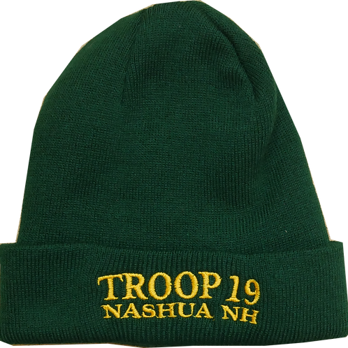 Boy Scouts Troop 19 Fleece Lined Knit Cap