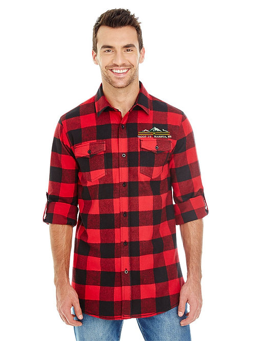 BSA Troop 19 Flannel Shirt Mens and Womans