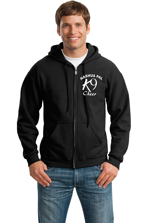 K9 Cheer black zip up Hoodie