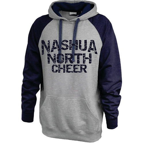 Nashua North Cheer Vintage Grey Hoodie