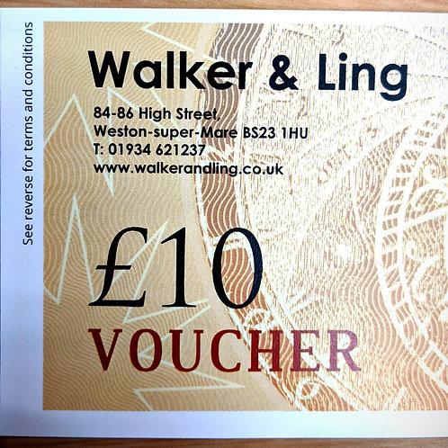Walker & Ling £10 Gift Vouchers