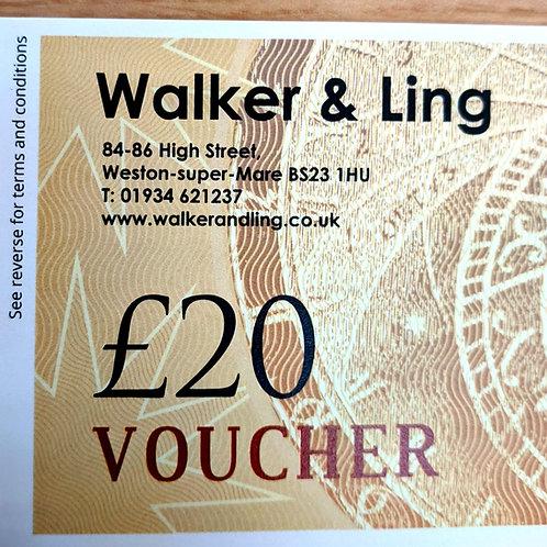 Walker & Ling £20 Gift Vouchers