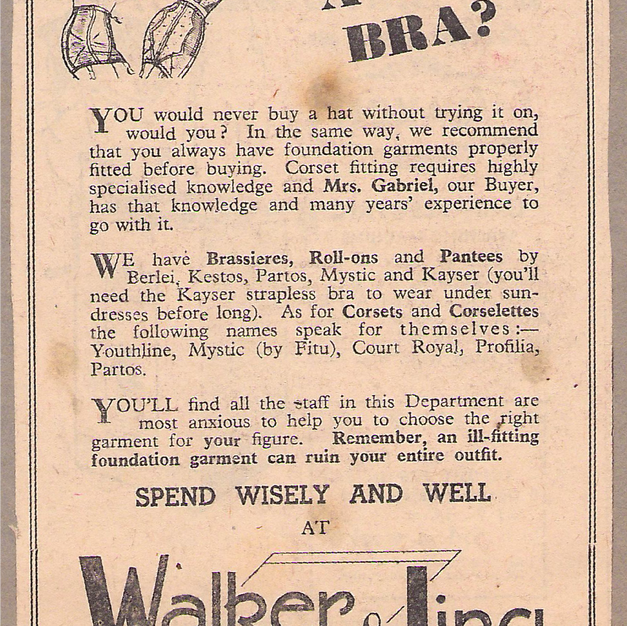 A new bra? 1956