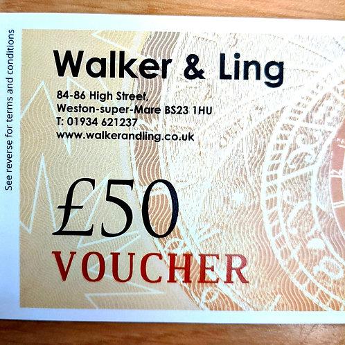 Walker & Ling £50 Gift Vouchers