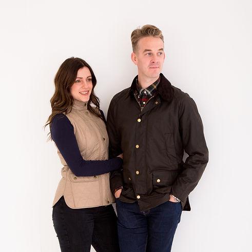 Mr and Mrs Walker Wear Barbour