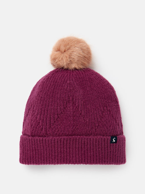 Joules Thurley Hat - plum