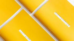Steven Xue, designer, yellow notebook, e