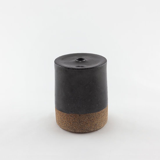 Black Flat-Top Vase