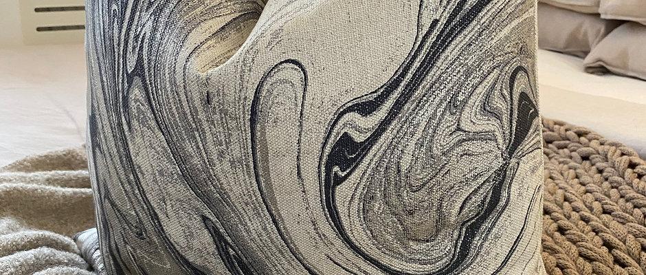 'Swirl Delight' - Duck Feather Cushion