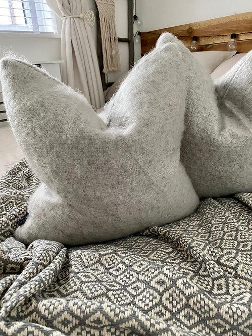 'Boucle' Grey - Duck Feather Cushion
