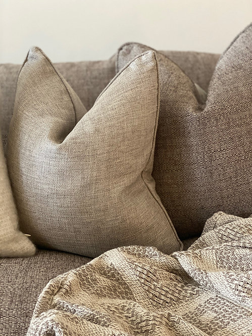 'Simpler' Natural Cushion - Duck Feather Filled