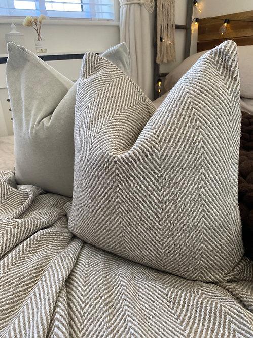 'Good As I' Taupe Cushion