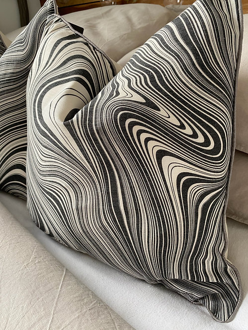'Marble Slate' Duck Feather Cushion