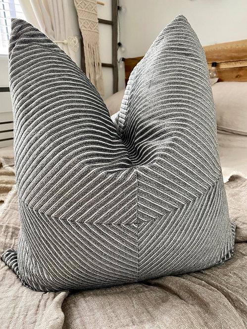 'Illusion' Grey - Duck Feather Cushion