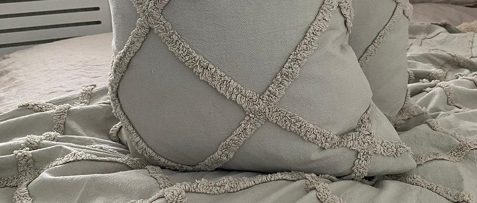 'Tago' Grey - Duck Feather Filled Cushion