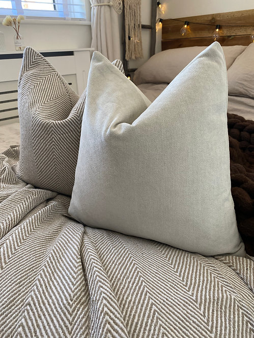 'That Linen' Taupe Cushion