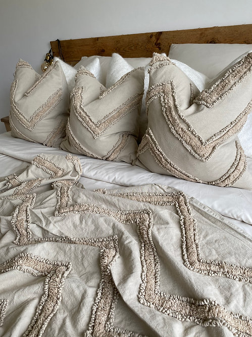 'Tago' Natural - Duck Feather Filled Cushion