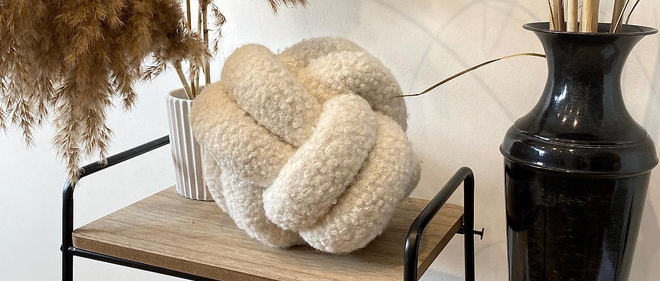 Boucle Knot Cushions