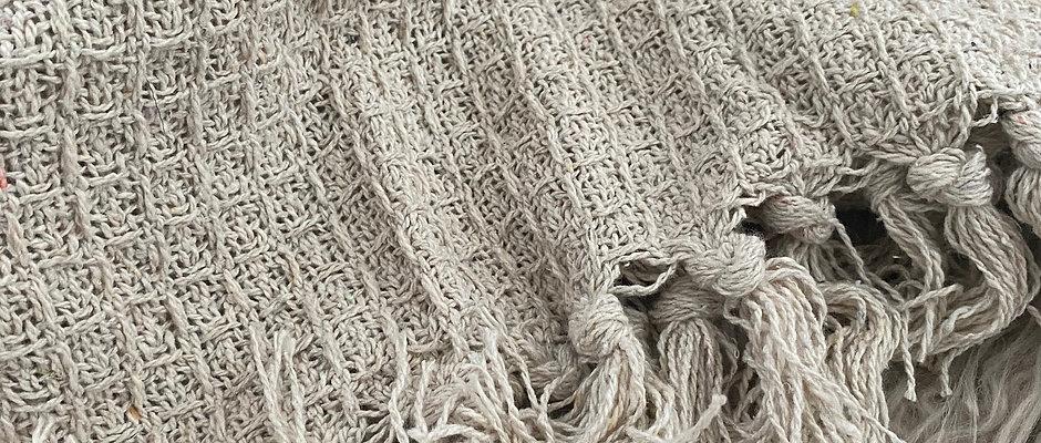 'OK Then' Tassel Blanket - variety of colours