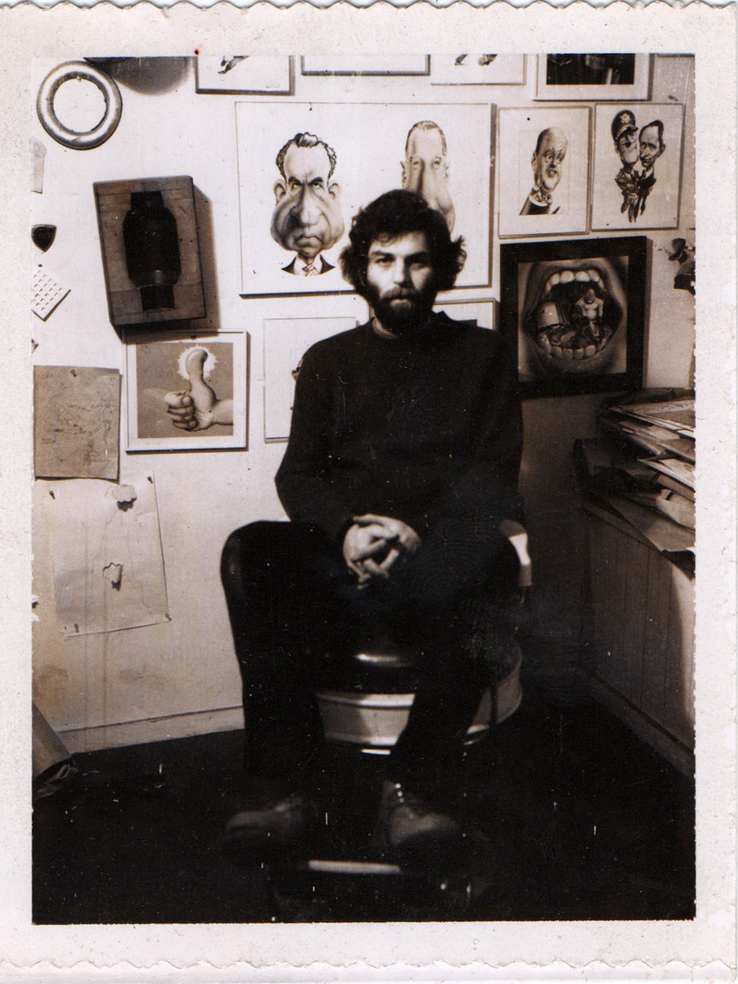 RG polaroid in studio