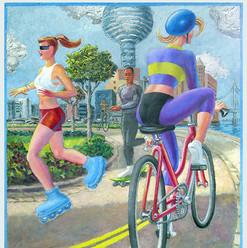 Bike Path painting
