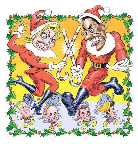 Dueling Santas'