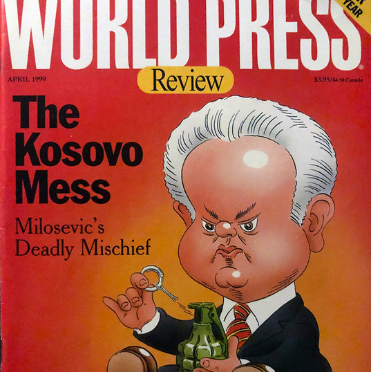 Milosevic, World Press cover