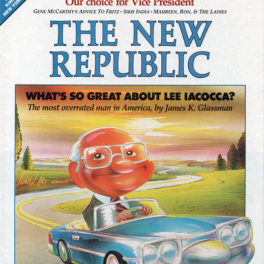Lee Iacocca, The New Republic cover