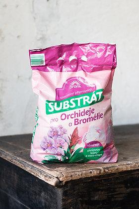 Substrát na Orchidey a Bromélie