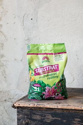 Substrát pre izbové rastliny