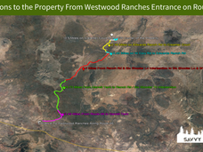 Directions to the Property From Westwood