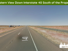 Western View Down Interstate 40 South of
