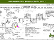Location of Lot 928 in Westwood Ranches